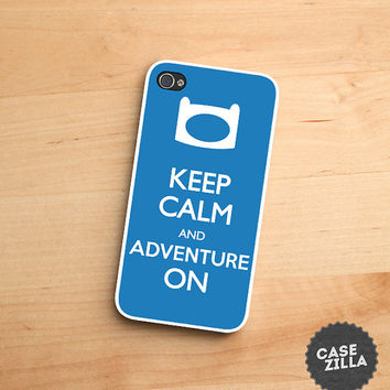 iPhone 5 Case Keep Calm and Adventure On Beemo BMO iPhone 5S Case, iPhone 4/4S Case, iPhone 5C Case