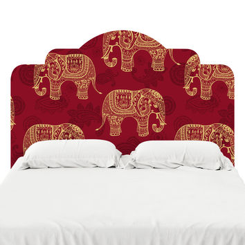 Paisley Elephants Headboard Decal