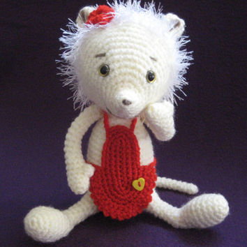 Amigurumi Crochet --- PATTERN --- Mouse Polly PDF Girl Toy Doll