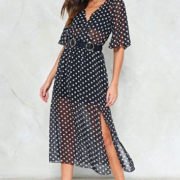 Hit the Spot Polka Dot Dress