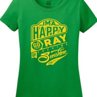 I'm a Happy Go Lucky Ray of effing Sunshine Optimistic Sarcastic T-Shirt tee Shirt Mens Ladies Womens MLG-1270