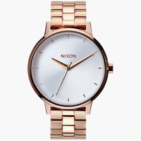 Nixon Kensington Watch Rose Gold/White One Size For Women 25951216701