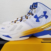 2016 Under Armour UA Curry 2 Two GOLD RINGS Limited Sz 12 Championship Warriors
