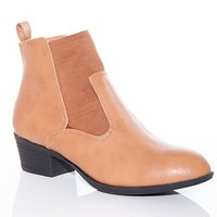 Natures Breeze Midnight Metro Chelsea Boots - Tan