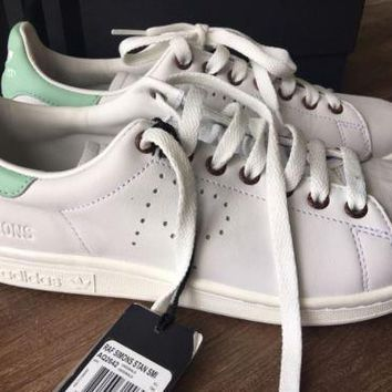 Adidas Raf Simons Stan Smith White Mint Green Leather Sneakers 6US 5.5 UK