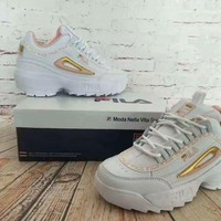 """""""FILA"""" Women All-match Casual Fashion Letter Thick Bottom Shoes Sneakers"""