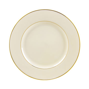13/4L x 1H Cream Double Gold Dinner Plate/Case Of 24