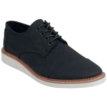 TOMS Cotton Twill Brogue Black Oxfords