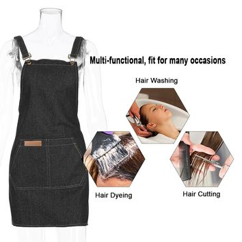 Professional Hair Dresser Salon Apron Hairdressing Cape Hair Cloth Cutting Dyeing Cape Apron For Coloring Shampoo Haircut 2Color