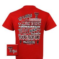 New Texas Tech Raiders Obsession Girlie Bright T Shirt