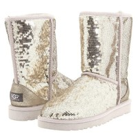 Ugg Australia Women's Classic Short Sparkle Boot SILVER 7