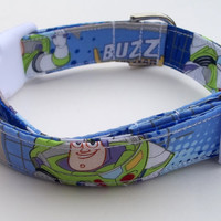 Toy Story Buzz Lightyear Dog Collar Size Extra Small, Small, Medium or Large