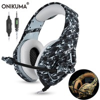 ONIKUMA K1 Casque Camouflage PS4 Headset with Mic Stereo Gaming Headphones for New Xbox One Cell Phone PC Laptop