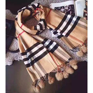"""Burberry"" Autumn Winter Popular Women Cute Comfortable Cashmere Cape Scarf Scarves Shawl Accessories"
