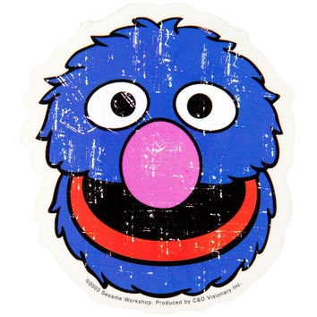 Sesame Street - Grover Head Decal