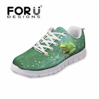 FORUDESIGNS Fashion Frog Women Casual Shoes,2017 Animal Woman Platform Shoes Female Breathable Walking Mash Shoes tenis feminino