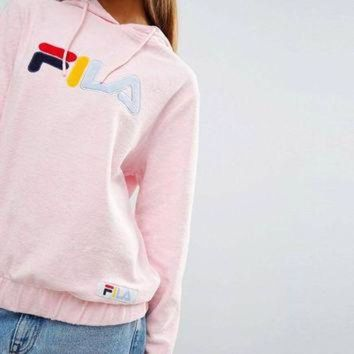 Pink Hoodie Throwback By Fila - Beauty Ticks