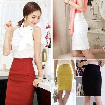 Women's Fashion High Waist  Skirt Office Lady Style = 1946244676