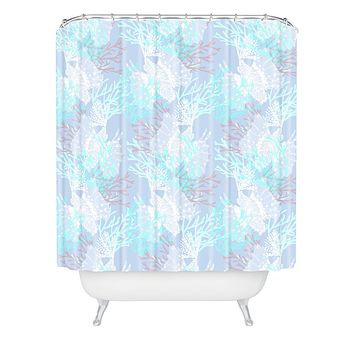 Aimee St Hill Tiger Fish Blue Shower Curtain