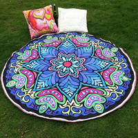 Boho Round Beach Towel, Tapestry