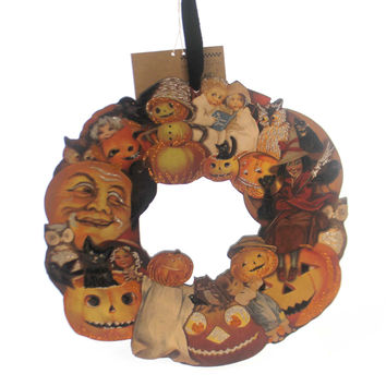 Halloween Pumpkin Wreath Small Halloween Decor