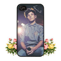 1D One Direction Louis Tomlinson Signature iPhone 4 4s 5 Case Cute Hipster Directioner