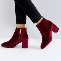 Ivyrevel Velvet Heeled Ankle Boot at asos.com