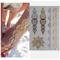 Body Art Henna Flash Tattoo Gold/Silver