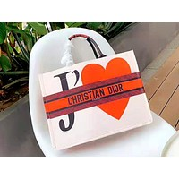 Free shipping-Dior new women's graffiti shopping bag handbag messenger bag