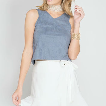 White Mini Wrap Skirt