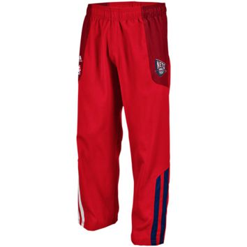 adidas New Jersey Nets Red On-Court Warm-Up Pants