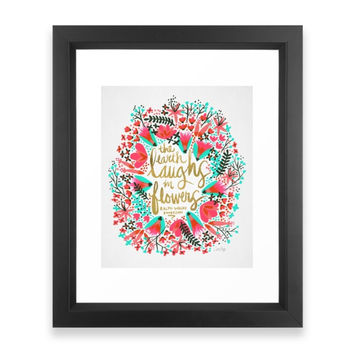 Society6 The Earth Laughs In F Framed Print