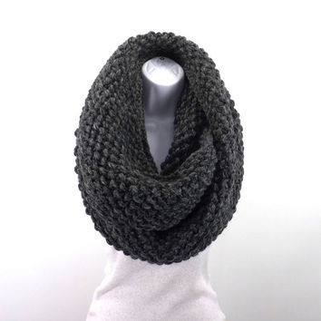 Oversized Chunky Infinity Scarf /GRANITE/, Woolen Unisex Chunky Scarf, Shawl, Wrap, Men Woman Chunky Scarf, Gift Idea