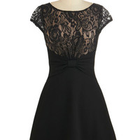 ModCloth Cap Sleeves A-line Lady of the Hour Dress