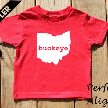 Ohio Home State BUCKEYE Unisex Toddler T-shirt - Baby Boys or Girls
