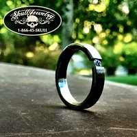 """""""Floating Away"""" Stainless Steel Ring w/Floating Cubic Zirconia Stone (542)"""