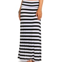 Sale-striped Maxi Skirt