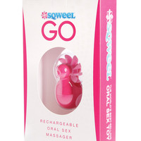 Sqweel Go Rechargable Oral Sex Stimulator - Pink
