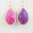Magenta & Grape Reversible Oval Earrings - Earrings