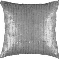 "Sequins Silver Pillow Cover (18"" x 18"")"
