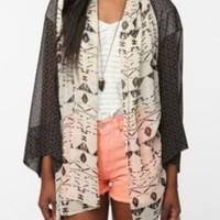 UrbanOutfitters.com > Ecote Chiffon Open Front Cocoon Cardigan