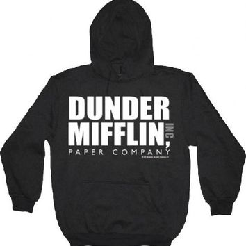 The Office Dunder Mifflin INC Paper Company Logo Black Hoodie Sweatshirt