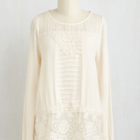 Mid-length Long Sleeve Just Prose to Show Top