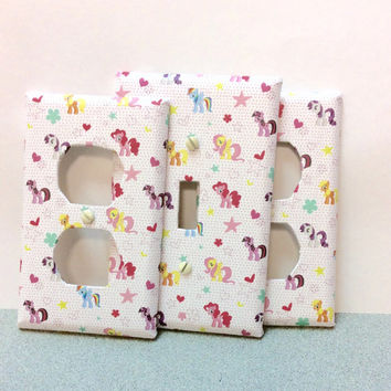 My Little Pony / Set of 3 / Switch Plate / Outlet Cover / Switchplates / Receptacle  covers