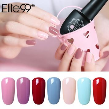 Elite99 10ml UV Nail Polish Glossy Surface UV Gel Nail Polish Nails Art Long-lasting Soak-off Gel Nail Pick Any 1 Color Code