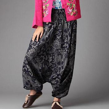 Cotton Linen Nepal Wide Leg Pants