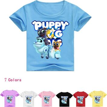 Z&Y 2-16Years Bobo Choses Newest 2018 Summer Puppy Dog Patrol T Shirt Girl T-shirt Boys Tshirt Short Sleeves Casual Shirt T006