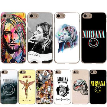 Kurt Cobain Smoking Nirvana Cover Case for Apple iPhone X 8 7 6 6S Plus 5 5S SE