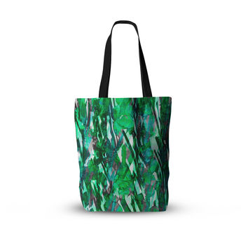 "Ebi Emporium ""Frosty Bouquet 7"" Green Abstract Everything Tote Bag"