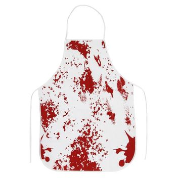 Horror Apron Bloody Murder Halloween BBQ Kitchen Cooking Apron Party Props for Haunted House Halloween Party Decoration